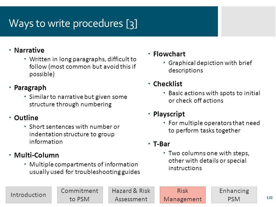 Ways to write procedures [3]